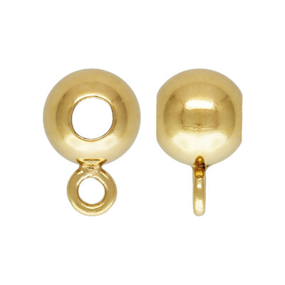 Metal beads, 4mm, approx. hole size 1.7mm, closed ring, gold filled, gold plate