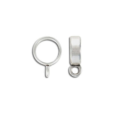 Metal bead, 12mm, spacer with loop, zinc alloy, antique silver. Made in Europe