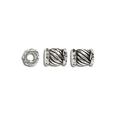 Metal beads, 8x6mm, pewter, lead safe