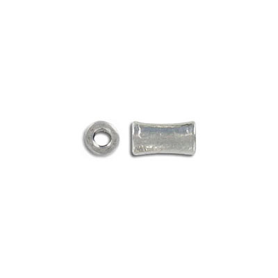 Metal bead, 10x5mm, barrel, pewter, lead free