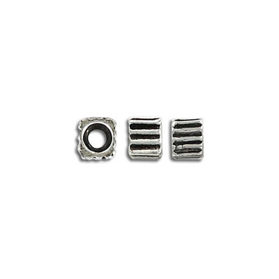 Metal beads, 6mm, pewter, lead safe
