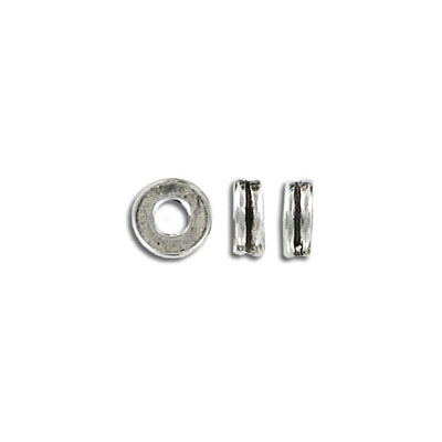 Metal beads, 2.5x8mm, pewter, lead safe