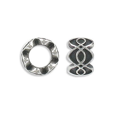Metal beads, 11x8mm, inside diameter 6mm,stainless steel, grade 316