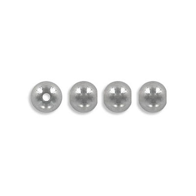 Metal beads, 6mm, inside diameter 1.80mm, stainless steel