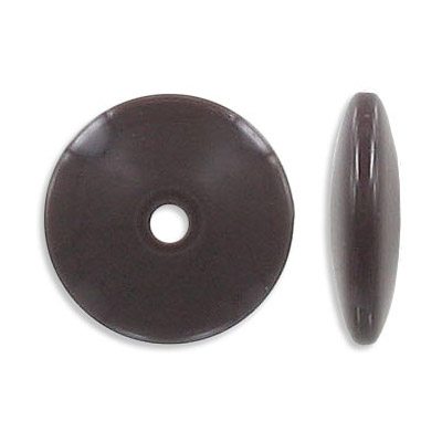 Plastic bead, brown
