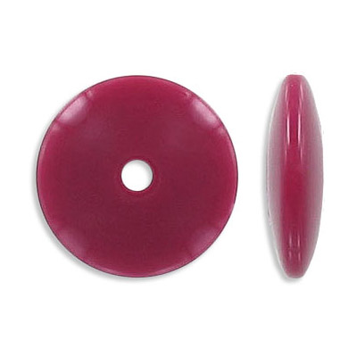 Plastic bead, dark red