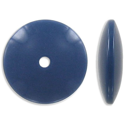 Plastic bead, 25mm, navy