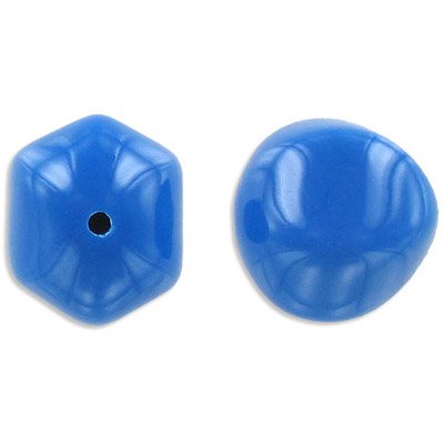 Plastic bead, blue