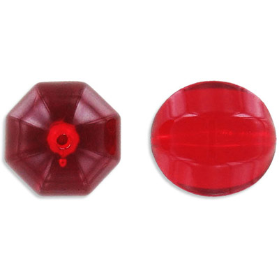 Plastic bead, 20mm, siam