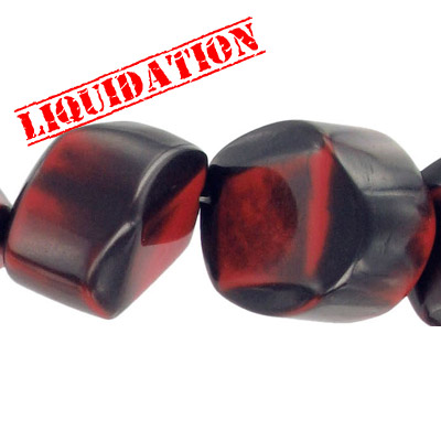 Resin beads, red