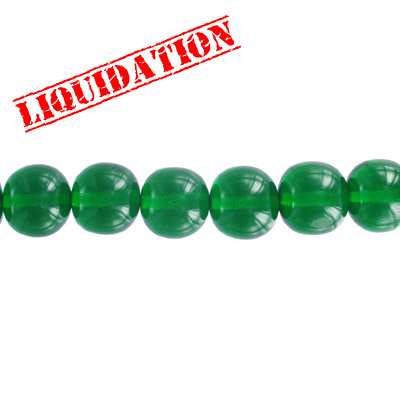 Resin beads, round green
