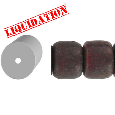 Resin beads, 8 tire red brushed