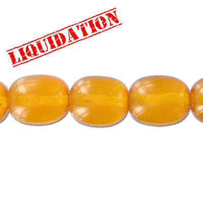 Resin beads, oval amber