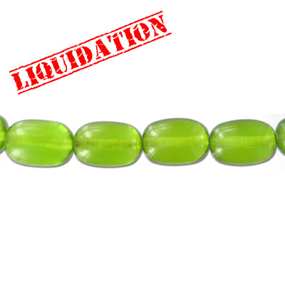 Resin beads, oval khaki green