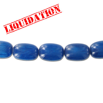 Resin beads, oval metallic blue