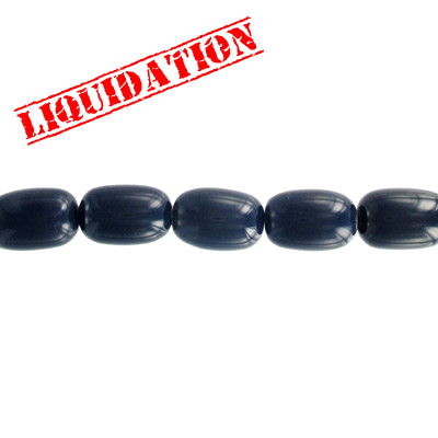 Resin beads, oval dark blue