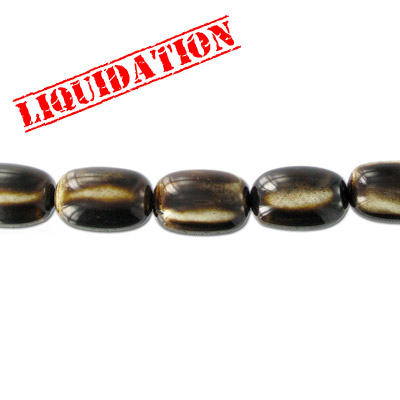 Resin beads, oval antique bone
