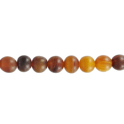 Horn bead, round, 10mm, 16 inch strand