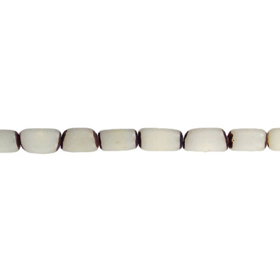 Wood bead, burie bead cylinder, 11x6mm, white 16 inch strand