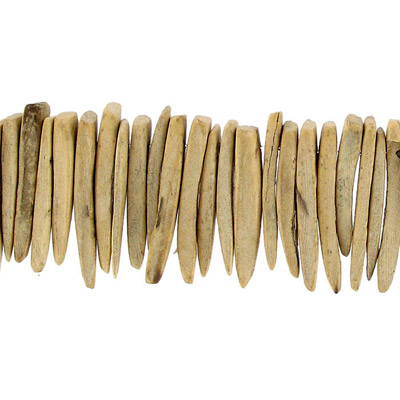 Wood bead indian coco sticks 25mm 1 inch natural 16 strand