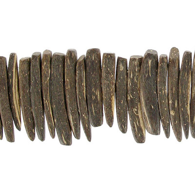Wood bead indian coco sticks 25mm 1 inch brown 16 strand