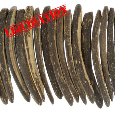 Wood bead indian coco sticks 50mm 2 inch brown 16 strand