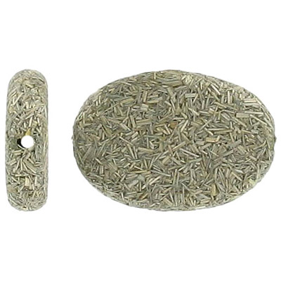 Gumon taupe wood bead, oval 30x19mm