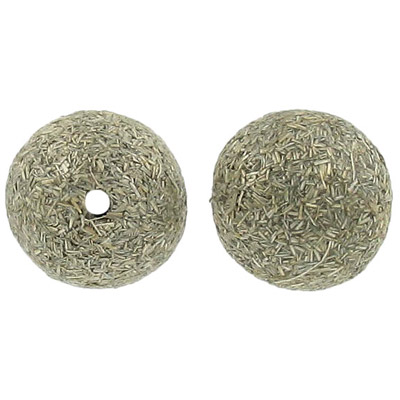 Gumon taupe wood bead, 20mm round