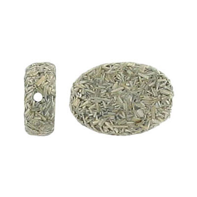 Gumon taupe wood bead,18x13mm oval