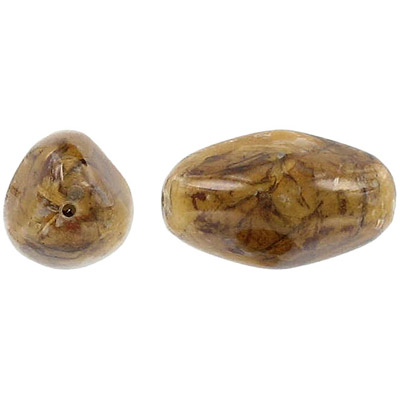 Laminated dried leaf bead, 28mm round disc