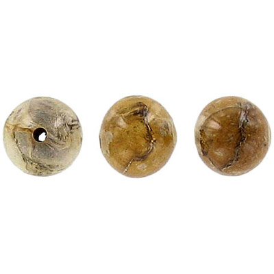 Dried laminated leaves bead, 10mm round