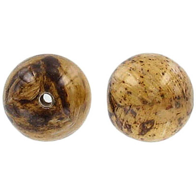 Laminated banana bark bead, 14mm round