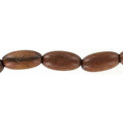 Wood bead, 11x18mm, oval, tiger kamagong, 16 inch strand