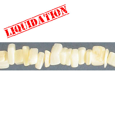 Mother of pearl beads, chips, 36 inch strand