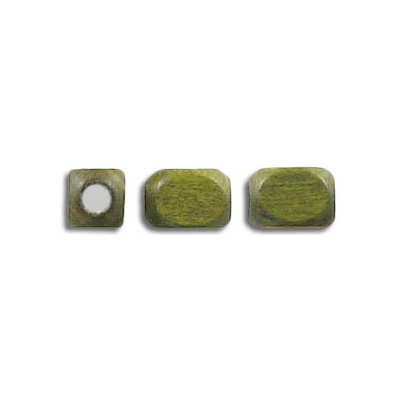 Wood bead, 6x7.5mm, khaki