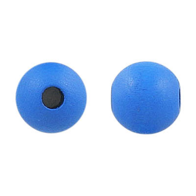 Wood bead, 12mm, round, light blue