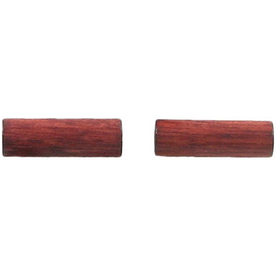Wood bead, 16x5mm, cylinder, red brown