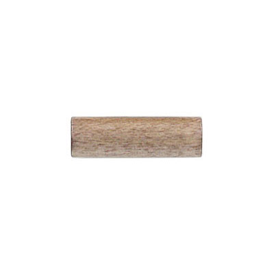 Wood bead, 16x5mm, cylinder, taupe