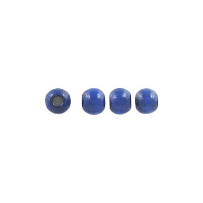 Wood bead, 4mm, laquered, blue