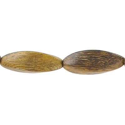 Wood bead, 10x30mm, twisted bead, robles wood, 16 inch strand
