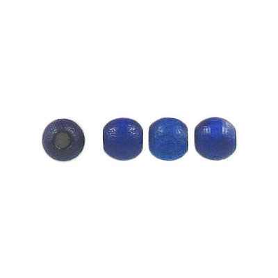 Wood bead, 5mm, lacquered, round, blue
