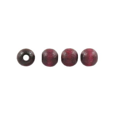 Wood bead, 5mm, lacquered, round, maroon