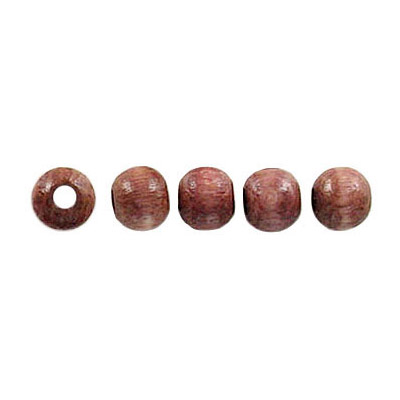Wood bead, 5mm, lacquered, round, taupe