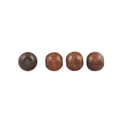 Wood bead, 5mm, lacquered, round, walnut