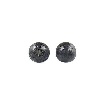 Wood bead, 6mm, black, lacquer