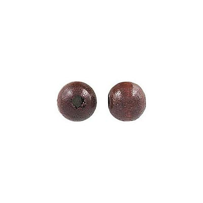 Wood bead, 6mm, lacquer, walnut