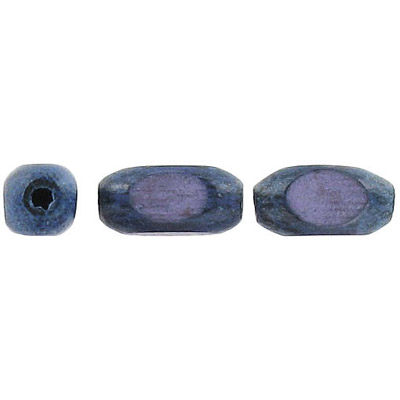 Wood bead, bambo, 15x7mm, faceted, blue, 16 inch strand