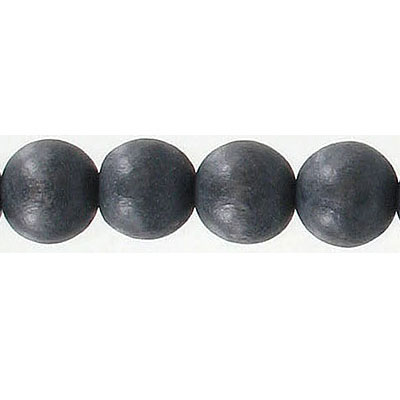 Wood bead, 10mm, round, grey, 16 inch strands, 40 beads per strand