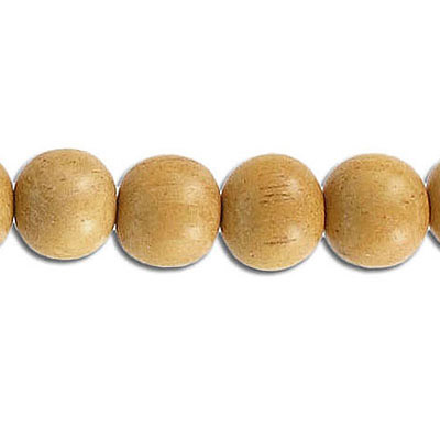 Wood bead, 10mm, round, nangka wood, 16 inch strand