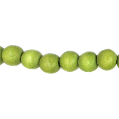 Wood bead, 10mm, round, olive, 40 beads per strand, 16 inch strands